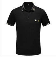 venta de ligas al por mayor-Italia Camisa Camiseta de la camiseta de diseño Top 2019 la venta caliente libre del resorte de lujo Polos Calle bordado liga Ropa para hombre de la marca Polo