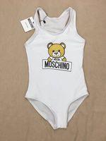 weiße kinder bikinis großhandel-2019 Sommer einteiliges Baby Mädchen Jumpsuits Bademode Lustige Bär Badeanzug Kinder Strandbekleidung