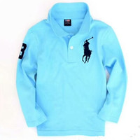Wholesale top quality kids clothing resale online - Top quality fashion kids boy polo shirts school uniform shirt boys t shirt long sleeve cotton clothes for years