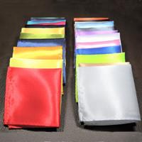 ingrosso sciarpa purpurea paisley-Fazzoletto da taschino da uomo, fazzoletto da taschino, fazzoletto da taschino puro fazzoletto nero rosso blu verde giallo viola piccola sciarpa