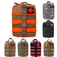 ilk yardım çantası torbaları toptan satış-Acil Kitleri Taktik Tıbbi Ilk Yardım Kiti Bel Paketi Açık Çanta Kamp Yürüyüş Seyahat Taktik Molle Kılıfı # JJ02