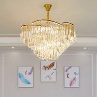 arañas de cristal de lujo al por mayor-lámpara de cristal de diseño de lujo lámpara moderna iluminación AC110V 220v lustre LED comedor araña luces del vestíbulo