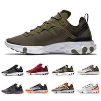 erkek koşu ayakkabıları toptan satış-Nike Epic React 87 shoes Toplam Turuncu Kraliyet Tonu Reaksiyon Elemanı 87 Koşu Ayakkabıları Kadın 87 s Çöl Kum Mavi Chill Yelken Yeşil Mist Erkekler Trainer Spor Sneakers