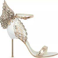 gold ultra high heels sandalen großhandel-2019 heißer Verkauf Marke Sophia Webster Cleo Sandalen Aus Echtem Leder Pumpen Schmetterling Ultra High Heel Sandalen Für Frauen Sexy Stiletto Schuhe 35-40