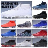 mens sports fußballschläger großhandel-Herren High Ankle Fußballschuhe Phantom VSN Elite DF FG Fußballschuhe EA Sports Superfly X PSG Phantom Vision Fußballschuh