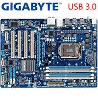 cartes mères atx achat en gros de-GIGABYTE GA-PA65-UD3-B3 Carte mère de bureau H61 Socket LGA 1155 i3 i5 i7 DDR3 16G ATX Original GA-PA65-UD3-B3 Carte mère d'occasion