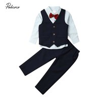 Wholesale formal clothes suit for sale - Group buy 2019 Brand Newborn Baby Boys Formal Clothes Outfit Tuxedo Christening Suit Gentleman Set Autumn Kids Toddler Party Clothing Set