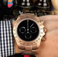 relógio de negócios multifunções venda por atacado-3 estilos relógios de luxo mens relógios de grife 43mm multi-função movimento de quartzo japão relógios de pulso de negócios montre de luxe