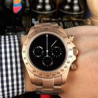 reloj multifunción de negocios al por mayor-3 estilos reloj de lujo para hombre relojes de diseñador 43 mm multifunción movimiento de cuarzo de Japón relojes de pulsera de negocios montre de luxe