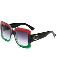gläser ac großhandel-Hohe Qualität Klassische Sonnenbrille Designer Brand Mens Womens Sonnenbrillen Brillen Gold Metall Grün 51mm 60mm AC Linsen Braun Fall