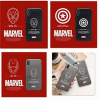 Wholesale silicone batman cases online – custom Marvel Avengers spiderman Captain America batman silicone Case for iPhone XS MAX tpu Back Cover Case for iPhone s S XR Back Cover