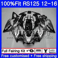 Wholesale 125 kit online - Injection OEM For Aprilia RS RS125RR RS4 HM Silver black RSV125 RS RS125 Fairing kit