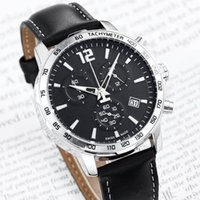 Wholesale red timer for sale - Group buy Top selling MB quality Timer small dial work men s watch brand fashion watches leather band man casual dress quartz wristwatch