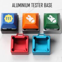 алюминиевый куб оптовых-Квадратный анодированный алюминиевый тест Shafter для вишневых механических клавишных переключателей с брелком Cube Sugar Aluminium Tester Base