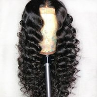 Wholesale brazilian remy full lace wigs ombre for sale - Group buy 360 Lace Frontal Wigs Loose Deep Wave For Black Woman Preplucked Brazilian Remy Full X6 Lace Front Human Hair Closure Wig
