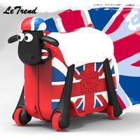trolley kinder großhandel-Mode Frauen Niedlichen Cartoon Schafe Form Kinder Auffahrt-Trolley Koffer Solide Kinder Machen Spinner Rollgepäck