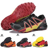 c7518a49c074 Original Salomon Speedcross 4 CS Mens Hiking Shoes Black White Blue Orange  Yellow Mens Waterproof Athletic Running Sports Shoe 40-46