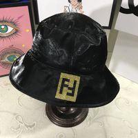 ingrosso cappelli lampeggianti-FF Print Visor Cappello da sole Moda Diamond Fisherman Secchiello Casual Blink Party Hat Outdoor Viaggi Spiaggia Sport Sun Hat LJJT885