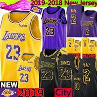 Los Angeles 23 LeBron James Lakers Lonzo 2 Ball Kyle 0 Kuzma 14 Brandon    Ingram 24 Kobe   Bryant Basketball Jerseys d785ec624