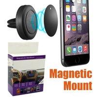 вращение магнита оптовых-автомобильное крепление с магнитом Универсальный автомобильный магнитный воздухоотводчик держатель на 360 оборотов для iPhone Android смартфон с розничной упаковке