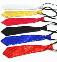 rendimiento de lentejuelas al por mayor-Casual empate niños adultos lentejuelas corbata calle danza espectáculo mágico escenario rendimiento corbata M056