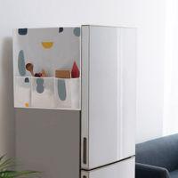 cubiertas de polvo del refrigerador al por mayor-Refrigerador creativo a prueba de polvo cubierta de moda de múltiples funciones de almacenamiento bolsas nevera organizador de la bolsa de lavado de la casa Gadgets TTA357