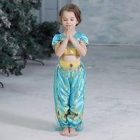 Wholesale tutu skirt cotton dress for sale - Group buy DHL years baby girl cosplay dress Aladdin Lamp Jasmine Princess costume skirts kids cartoon make up fancy clothing