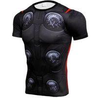 trajes de cosplay rápidos venda por atacado-Vingadores THOR 3D camisetas Homens Compressão de Manga Curta T-Shirt de Fitness Traje Cosplay Quick Dry Crossfit Tops Masculino Fit Pano