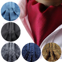 Wholesale handkerchief ascot for sale - Group buy Fashion Men Handkerchief Cravat Set Silk Paisley Pattern Gentlemen Dots Tie Wedding Ascot Bowtie Tuxedo