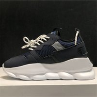 Wholesale casual lightweight shoes for sale - Group buy Hot Sale Designer Sneakers Chain Reaction Sport Fashion Casual Shoes For Men Women Trainer Lightweight Link Embossed Sole With Box Dust Bag
