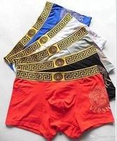 calcinha para homens venda por atacado-19ss vender melhor Marca Calcinha Sexy Mens Sólidos Cueca Homens Boxer Modal Curto Masculino Cueca 6 Pcs Luxo Lace Design Underpant