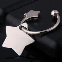 metal pentagram yıldızlar toptan satış-Metal Pentagram Yıldız Anahtarlık-Pentagramı Anahtarlık Anahtarlık Yüzük Etiketi Sevimli Anahtarlık Anahtarlık Anahtarlık Parti Hediye