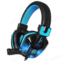 jeux d'ordinateur portable achat en gros de-Canleen Stéréo Gaming Headset Surround Sound Over-Ear Jeu Casque avec Suppression de Bruit Mic LED Lumière pour PC Téléphone Ordinateur Portable livraison gratuite