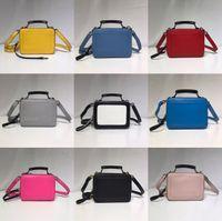 ingrosso borsa dell'annata di modo-borsa a tracolla colorata Lettera doppia cerniera BOX Vintage borsetta borsa semplice lusso famoso designer di alta qualità borsa borsa crossbody MJ moda