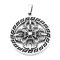 eisen kreuzkette großhandel-Großhandel Edelstahl Schmuck Eisernes Kreuz im Kreis Anhänger FSP17W47