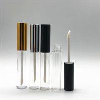leere klare lippenbalsambehälter großhandel-10 ml Leere Klare Lipgloss Tube Lippenbalsam Flasche Pinsel Container Beauty Tool Mini Mehrwegflaschen Lipgloss RRA1314