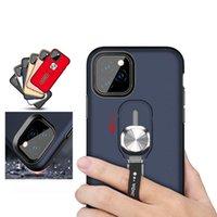 cas de téléphone de doigt achat en gros de-Finger Support Phone Case pour iPhone 11 Pro Max XS XR X Hybrid armure Defender Béquille Case Fringer Grip Fixation du support Car Cover