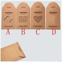 ingrosso abbigliamento scatola marrone-Calze di stoccaggio stoccaggio borse Brown Kraft Paper indumento scatole di abbigliamento imballaggio al dettaglio Spedizione gratuita