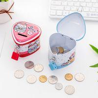 karikatur sparschwein geld großhandel-Cartoon Tiere Spardose Tinplate Herz-geformte Piggy Bank mit Verschluss Münzsammlung für Kinder Preise 1 92hc E1