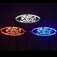 ingrosso ha condotto le luci per la messa a fuoco-logo 5D auto della lampada del distintivo dell'automobile LED Fanale posteriore per Ford Focus Mondeo Kuga Auto luce del distintivo 14,5 centimetri * 5,6 centimetri GGA1739