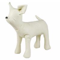 mostrar perros al por mayor-Modelos de cuero perro maniquíes Permanente Postura del perro juguetes para mascotas Animal Shop exhibición del maniquí