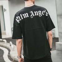 erkekler için siyah kıyafetler toptan satış-2018SS Palm Melekler Mektup baskı Erkek Kadın t shirt Hip Hop Palmiye Melekler Giyim Moda Omuz Üst Tee Siyah beyaz S-XXL