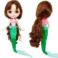 ingrosso set di giocattoli barbie-Un set bambola principessa abito fiaba coda coda di nozze abito da sposa reggiseno top abiti a coda di pesce per accessori bambola Barbie giocattolo