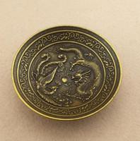 jel kalem kalıpları toptan satış-Çin'in Eski Pekin eski Ürünleri Dragon ve Phoenix Pen Kabartma Desenli Yıkama