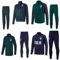 trajes de italia al por mayor-fútbol survetement Italia BELOTTI camisa de manga corta Polo kits de la chaqueta de traje de entrenamiento BUFFON Verratti seguimiento de foot DE ROSSI chándal de fútbol