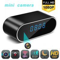 kamera cmos çalar saat toptan satış-Mini Wifi HD Saat Kamera 1080 P Kablosuz Alarm Video Mikro Kamera Kızılötesi Gece Görüş Fonksiyonu Ile Uzaktan Dijital Masa Saati Kaydedici