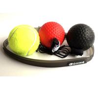 желтые полоски пота оптовых-Боевая экипировка Sweat Band + основной черный PU мяч + старший красный резиновый мяч + желтый теннисный мяч + Flannelette сумка Спорт на открытом воздухе игрушки