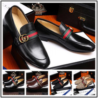 Wholesale men s dressing black shoe online - iduzi new mens designers dress shoes Genuine leather Metal snap Peas wedding Shoes classic fashion Men s shoes big size loafers
