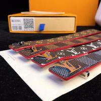ingrosso braccialetto di fascino rosso dell'ancoraggio-Bracciale Tom Hope bracciale a maglie in acciaio inox Atlantic 3 misure rosso con 4 catene e scatola con etichetta TH2