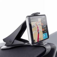 gösterge tablosu cep telefonu tutucuları toptan satış-Araba HUD Dashboard Klip Dağı Cep Telefonu GPS için Tutucu Stand